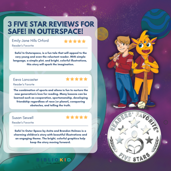 3 Five star reviews for Safe! in Outerspace!
